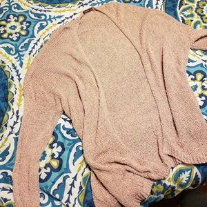 Blush open front sweater/cardigan